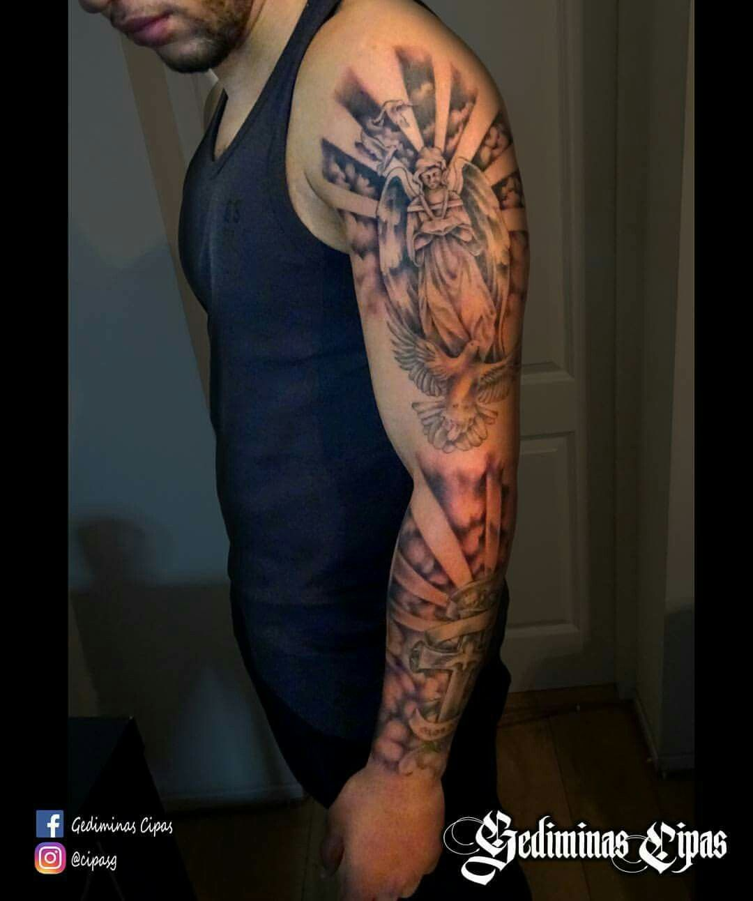 Tattoo Design Tattoo Sketch Religiouse Tattoo Angel Tattoo Arm Sleve Tattoo Art Nc Tattoo Tattoo Artists Tattoos