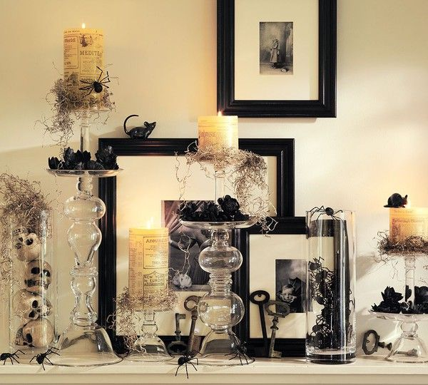 Halloween Decor Have A Ton Of Those Clear Cylindrical Vases That