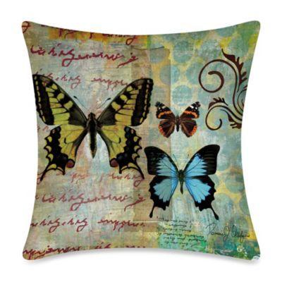 19-Inch Outdoor Toss Pillow in Homespun Butterfly 1 from Bed Bath & Beyond