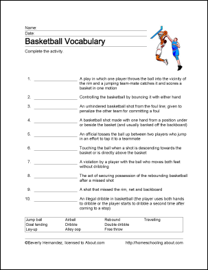 Learn About Basketball with Free Basketball Printables! | Word ...