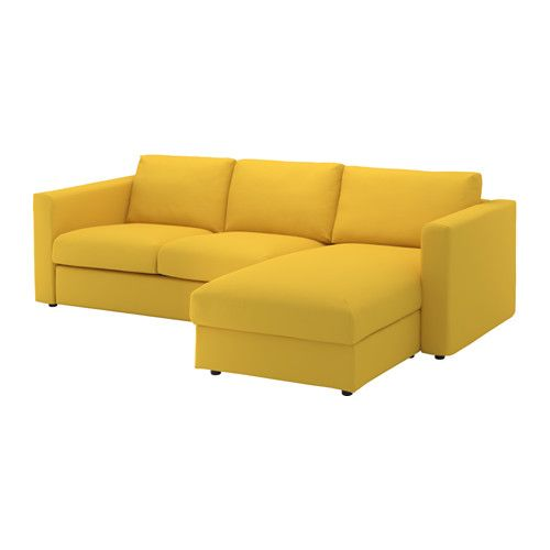 Sofa Slipcovers IKEA VIMLE seat sofa With chaise longue gr sbo golden yellow This soft