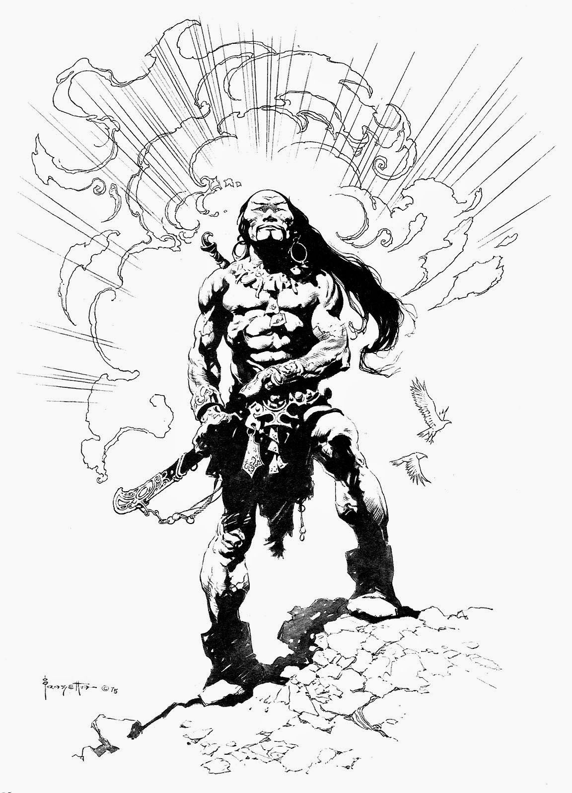 BLACK N WHITE AND RED ALL OVER Search Results For Frazetta The Living