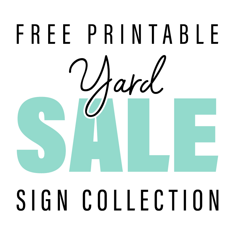 Free Printable Yard Sale Sign Collection The Cottage Market Yard Sale Signs For Sale Sign Yard Sale