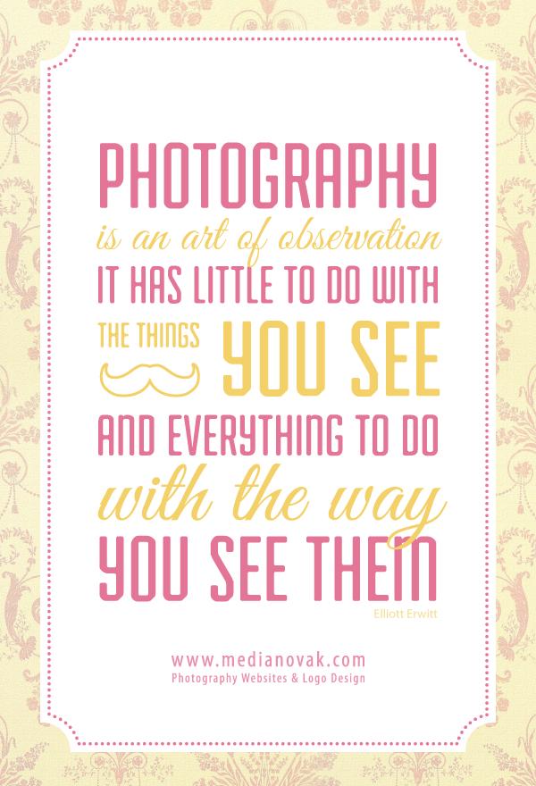 Medianovak Com Photography Websites Logo Design Quotes About Photography Photo Quotes Photography Website