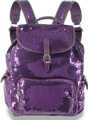 Sequin Back Pack Glittery Back Pack is another way to show off her outgoing personality and separate her from the rest. Has several exterior compartments, and one main pocket inside to carry all of he