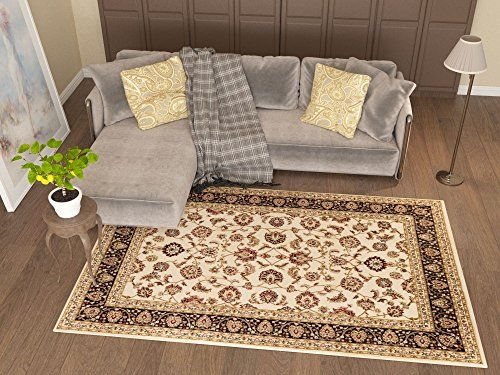 Antique Classic Ivory 67 X 96 Area Rug Oriental Floral Motif Detailed Classic Pattern Persian Living D Easy Clean Rug Inexpensive Dining Room Set Office Carpet