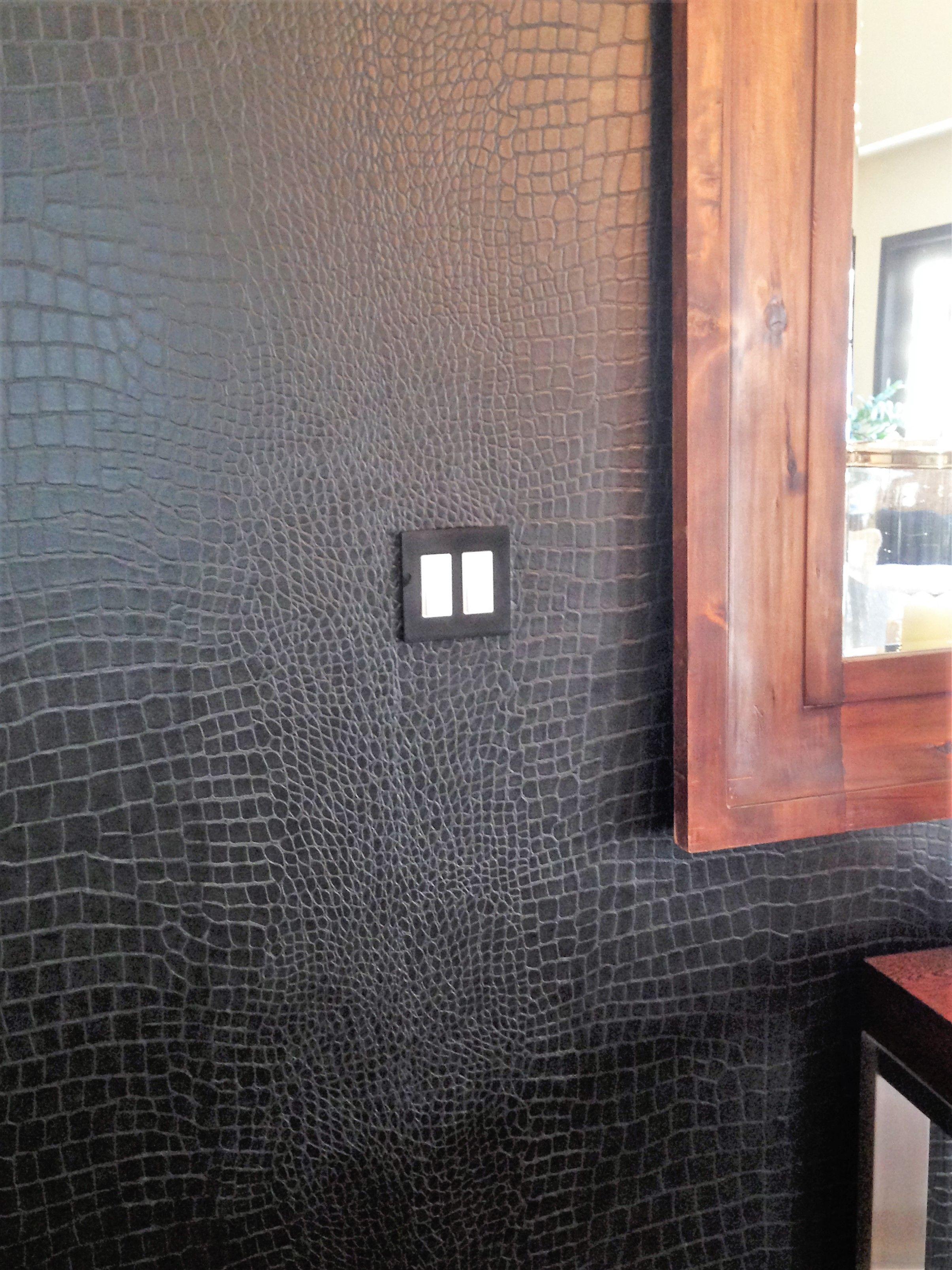 Crocodile Black Wallpaper I Installed In Dining Room