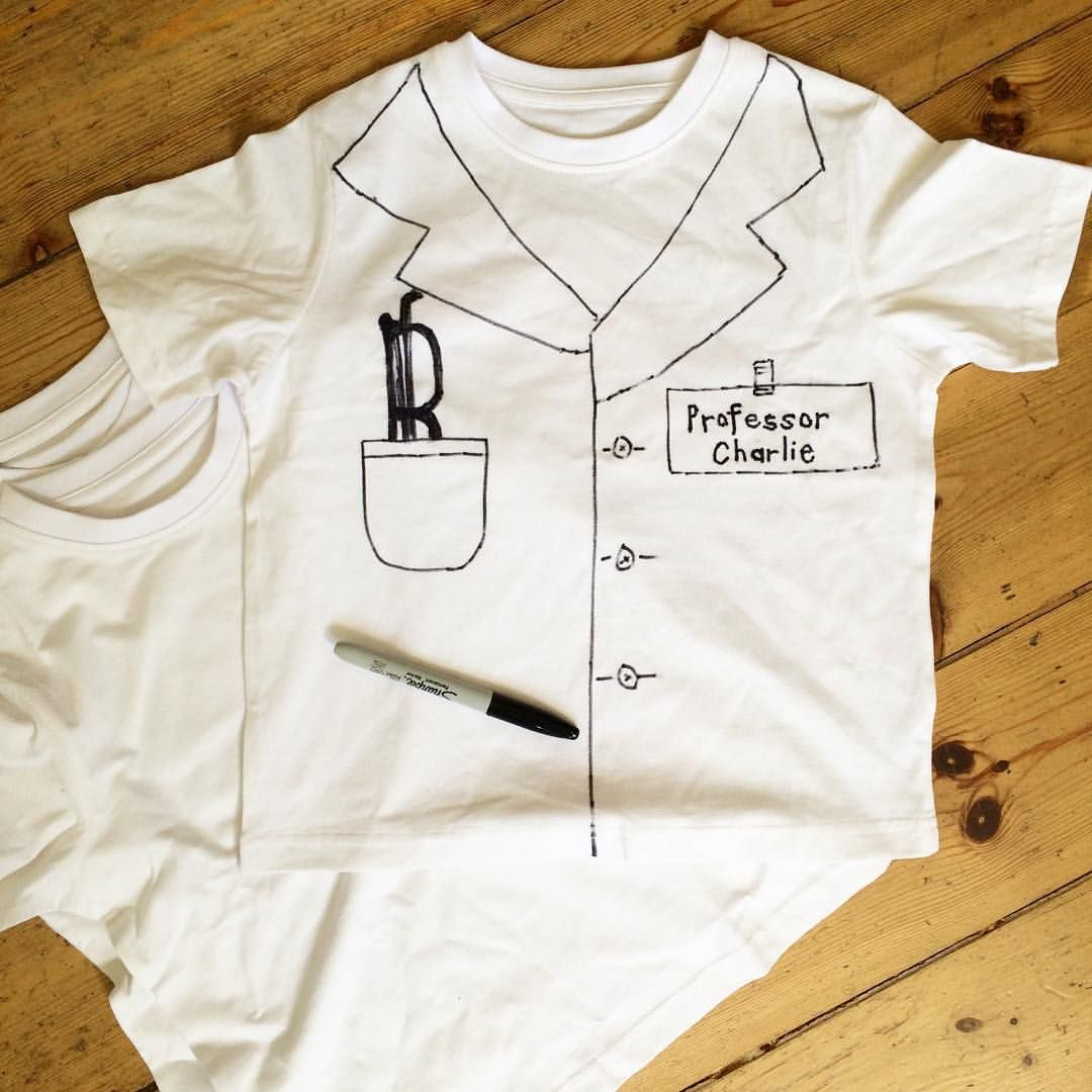 Making t-shirt lab coats for Miss 7\'s science party this weekend ...