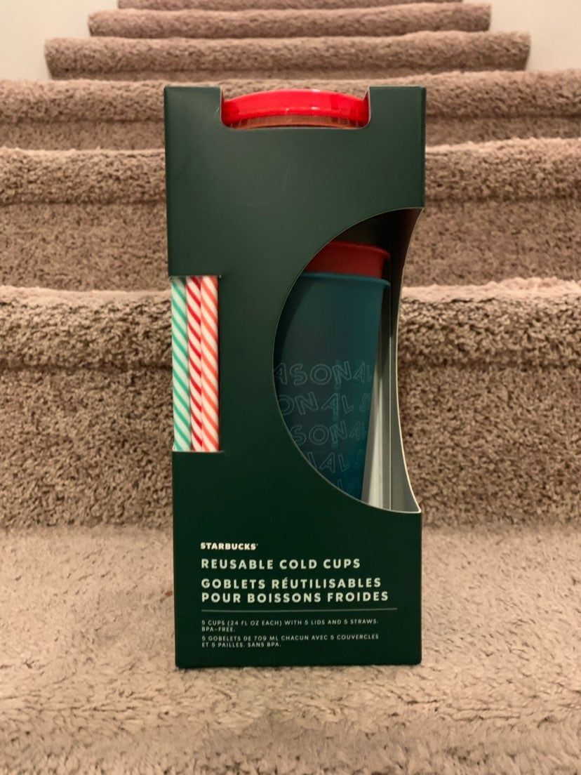 NEW Starbucks Holiday 2019 Reusable Cold Cups NWT in 2020