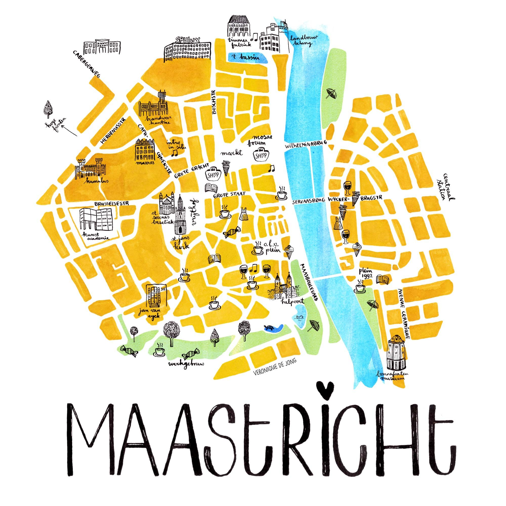 Map Of Maastricht Maastricht Map Netherlands