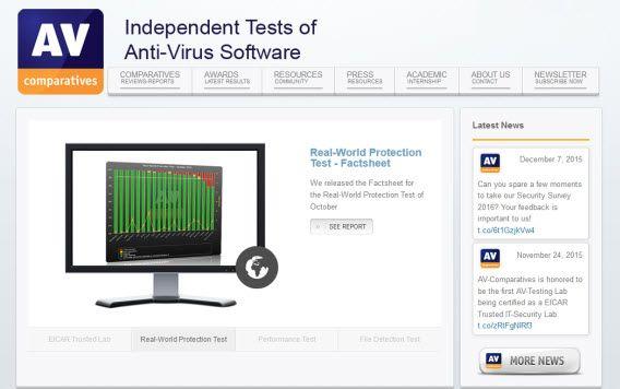 Sitio oficial de AV-Comparatives