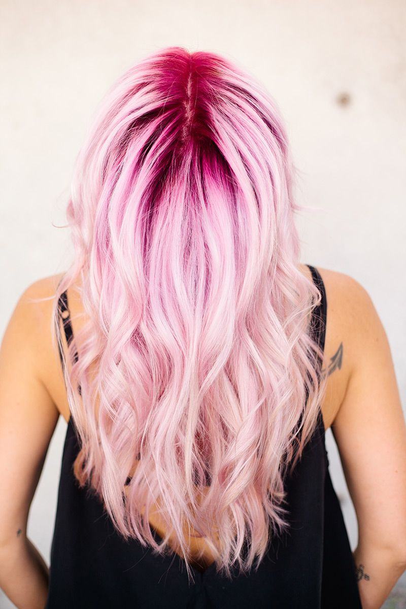 Cotton Candy Up Style Pink Ombre Hair Ombre Hair Color Pink Blonde Hair
