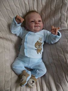GORGEOUS Reborn PREMIE baby boy doll  LOGAN  c21b01c491fc