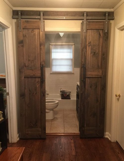 Double Barn Door Hardware Installed Barn Door Designs Double Sliding Barn Doors