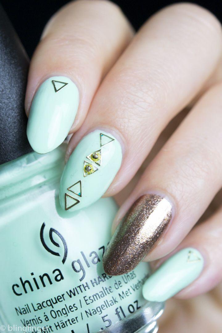 Triangle Nail Studs | * SIMPLE Nail Art Design Ideas ...