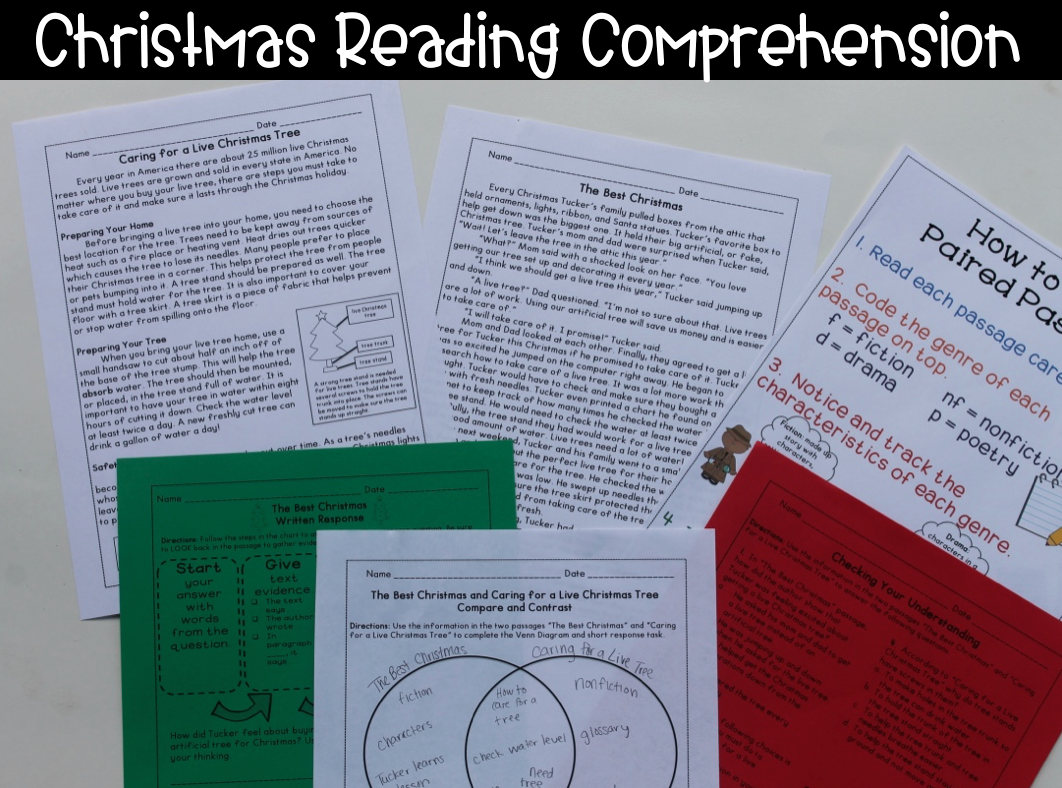 Christmas Reading Comprehension Paired Passages With Close Reading Ideas And Lesson Pla Reading Comprehension Christmas Reading Comprehension Christmas Reading [ 788 x 1062 Pixel ]
