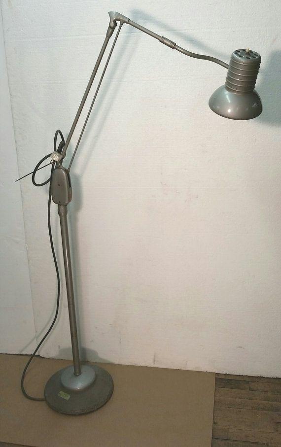 Reserved for s dazor floor lamp vintage floating arm industrial 225 dazor floor lamp vintage floating arm industrial metal adjustable task lamp dazor model 794 aloadofball Images