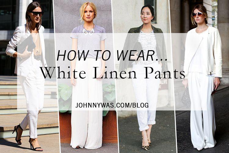 how to wear cream pants