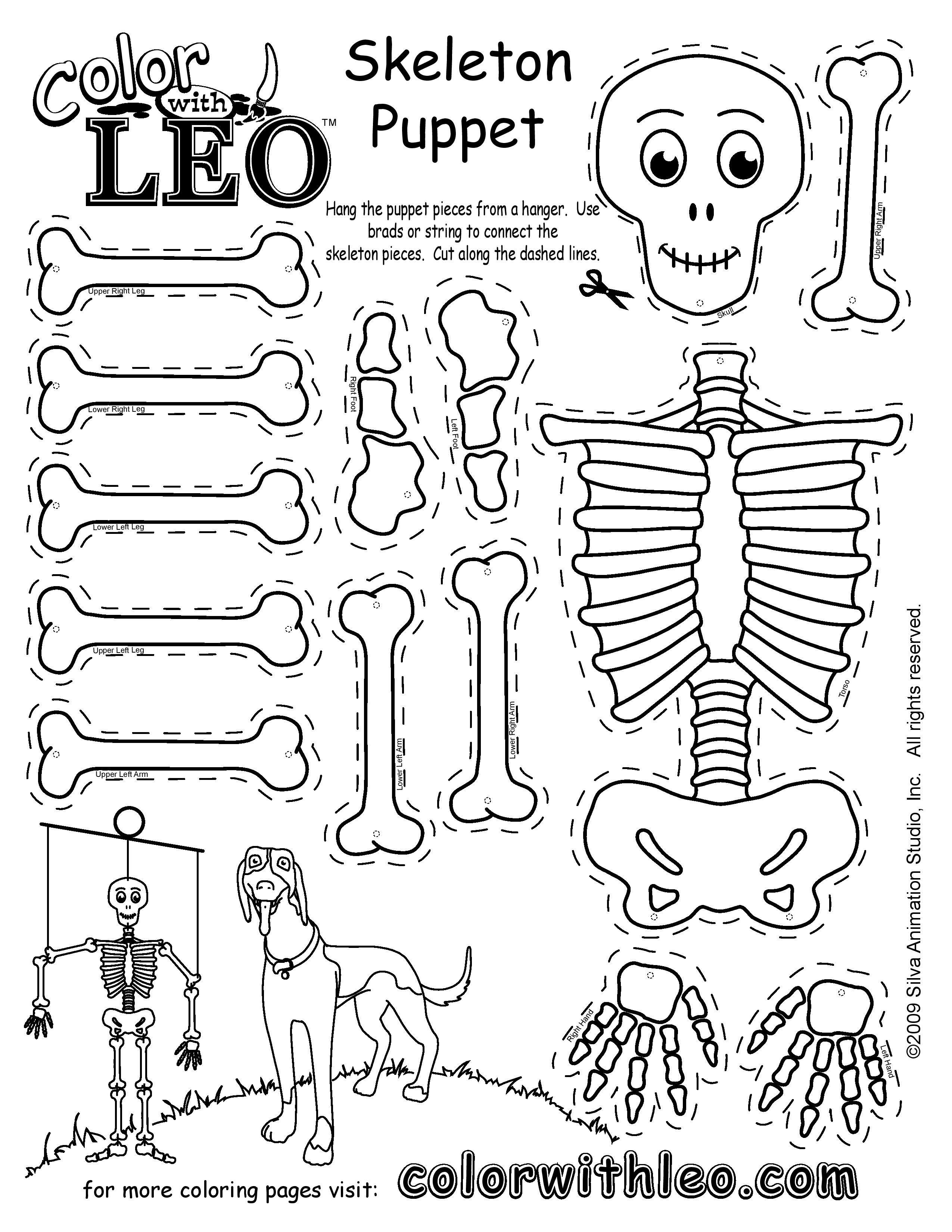 Skeleton Puppet Skeleton Craft Skeleton Puppet Puppet Crafts [ 3300 x 2550 Pixel ]