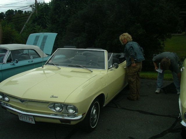 Yellow Corvair
