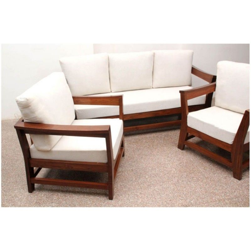 Indus Sofa 3 1 1 Set Mohogani Finish Sofas Living Room Wooden Sofa Set Wooden Sofa Designs Sofa Design