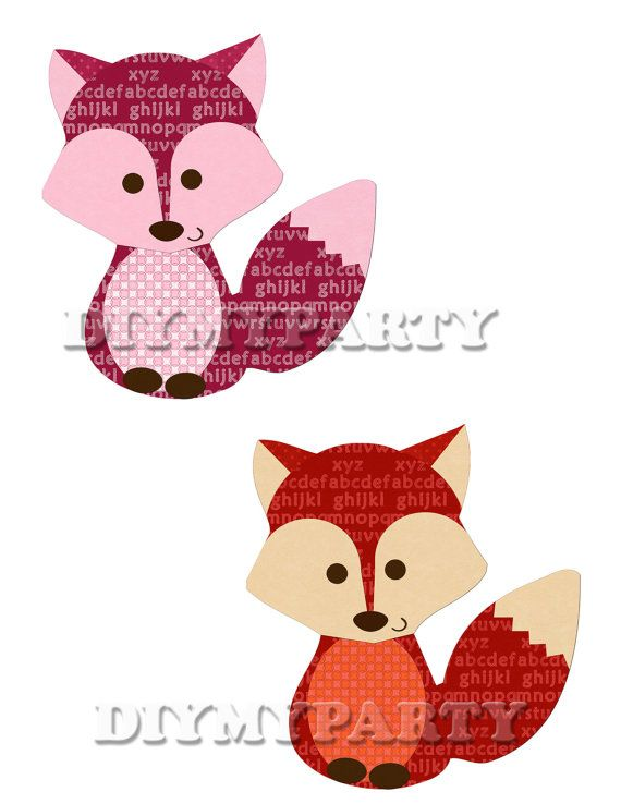 printable party decor foxes clip art foxes clipart birthday rh pinterest ca