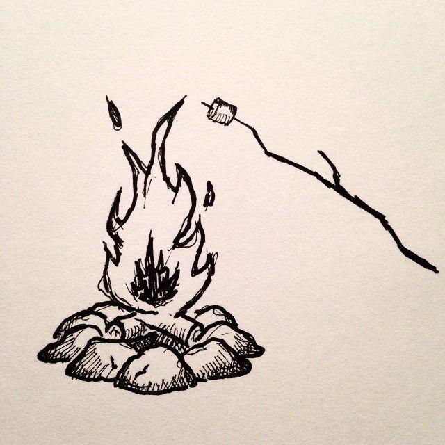131 Me gusta, 3 comentarios - David Powell (@david_rollyn) en Instagram: Having a fire tonight! #fire #penandink #micron #lines #crosshatch #pnw #portland #oregon… #marshmallow