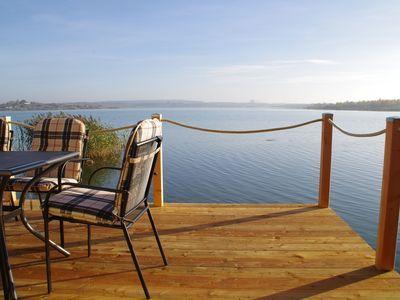 Modernes Ferienhaus direkt im Hainer See mit Boot
