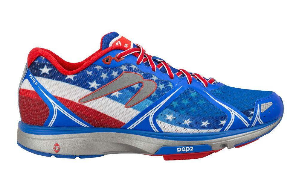 half off d2c7b 30dd4 Newton USA Fate II Running Sport Shoes Trainers Unisex American Flag U03316  SALE Newton