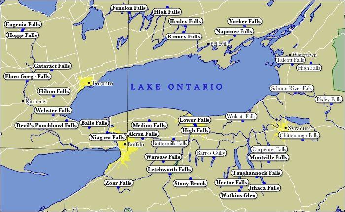northern ontario lakes map Map Of Lake Ontario Waterfalls Lake Ontario Lake Great Lakes Map northern ontario lakes map