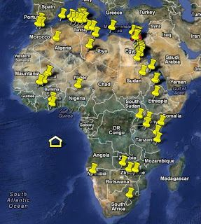 Discover the ancient ruins of Africa in Google Map. The map is