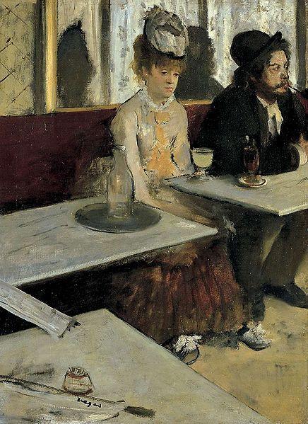 L'Absinthe, by Edgar Degas, 1876