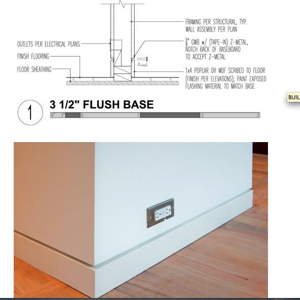 flush baseboard detalles pinterest baseboard