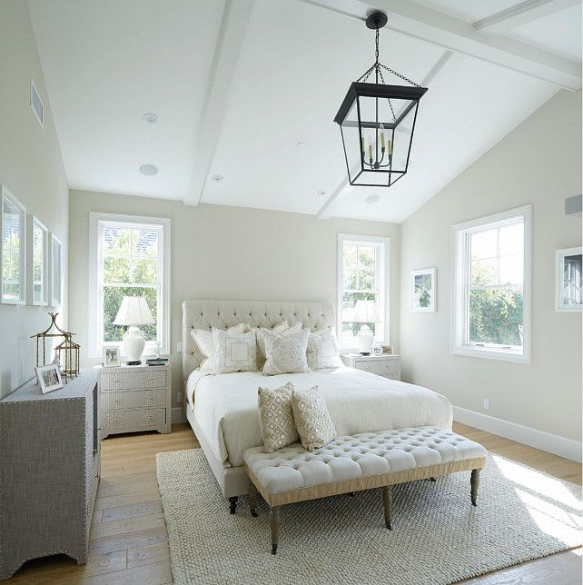 Los Angeles Home With East Coast Inspired Interiors - Master bedroom rug ideas