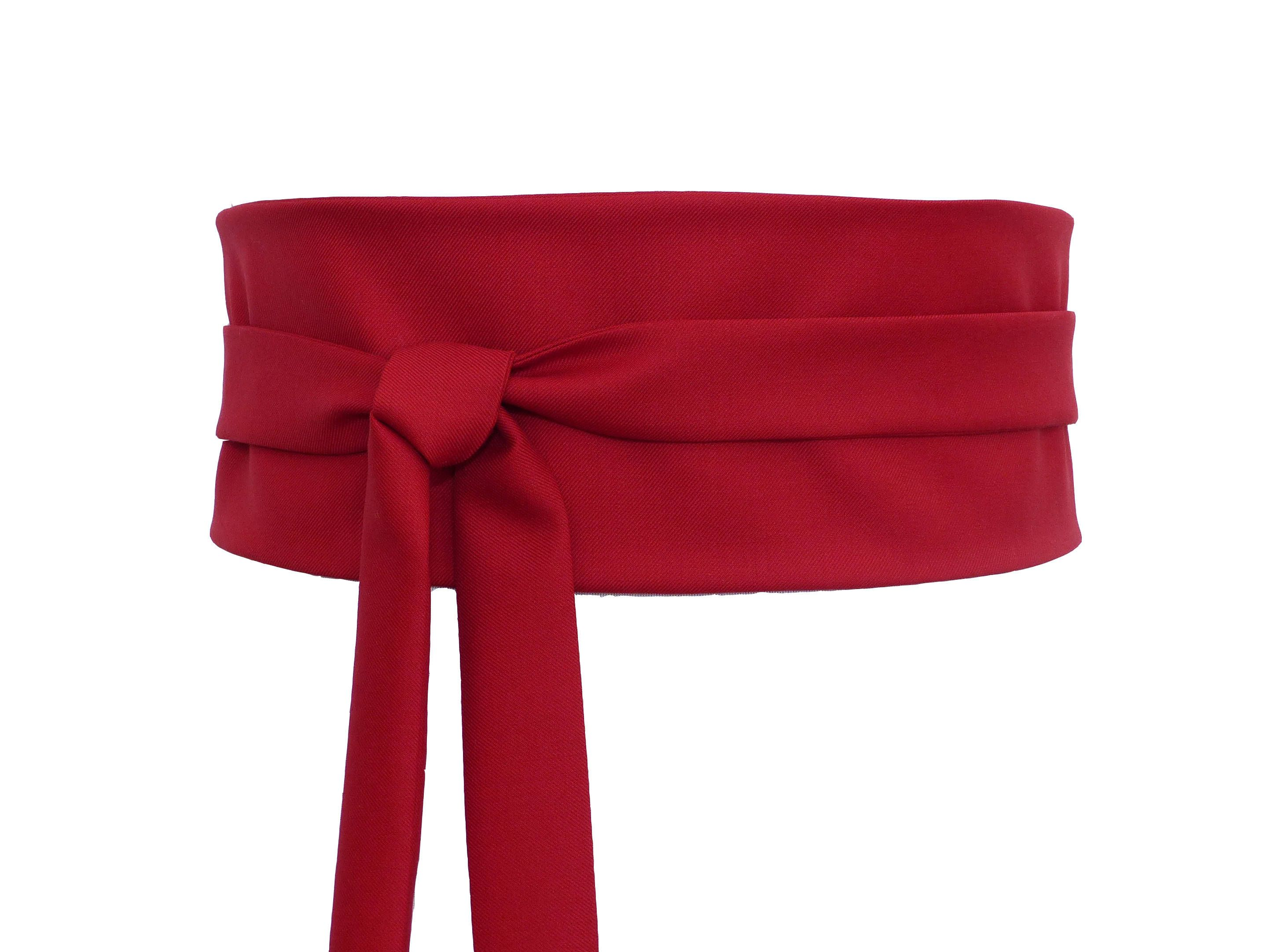 diversifié dans l'emballage avant-garde de l'époque sur des pieds à Dark Red Obi Waist Belt, Wide wrap, belt japanese kimono ...
