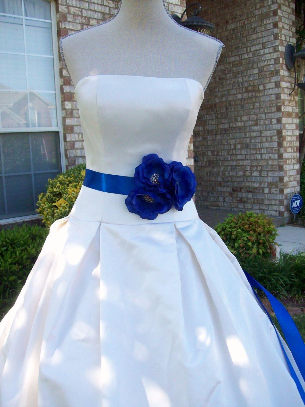 Royal blue weddingroyal blue sashflower sashbridal sash colbalt