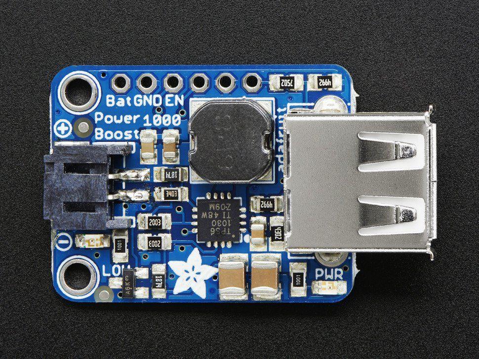 PowerBoost 1000 Basic - 5V USB Boost @ 1000mA from 1 8V+