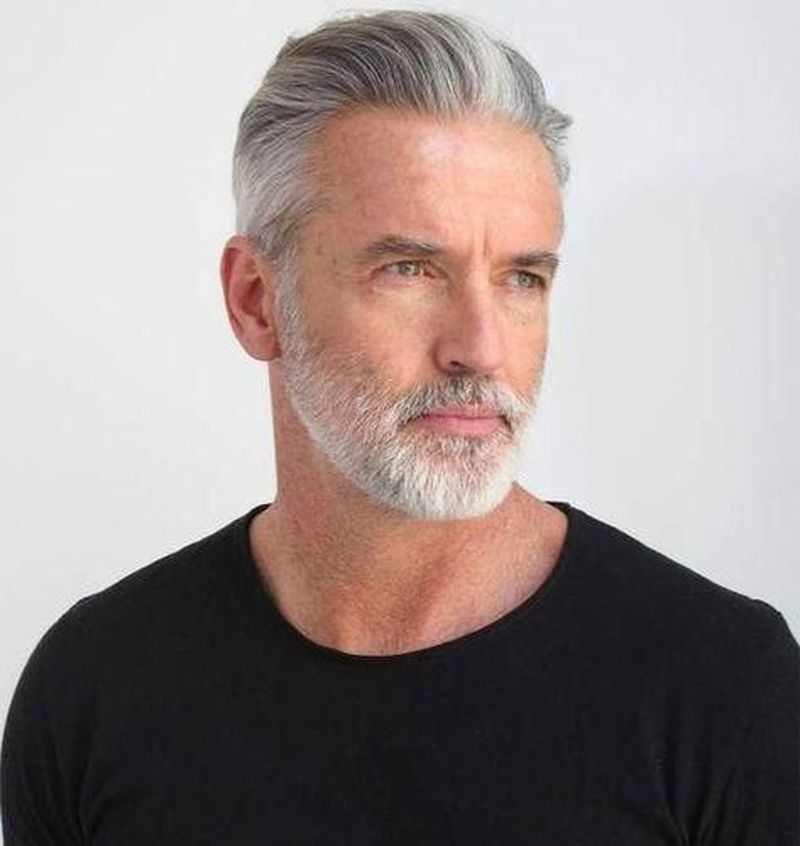 46 excellent hairstyle ideas for men 2020 silver hair