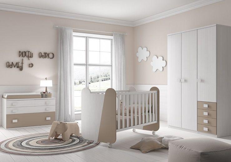La chambre lilou est tr s reposante pour un nouveau n avec des tons blanc et terre elle - Chambre nouveau ne ...