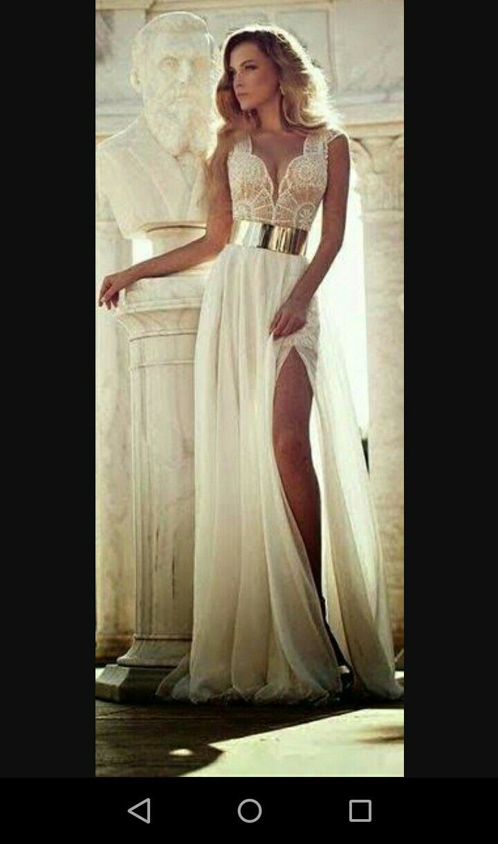 White goddess evening gown | Matricball Dresses | Pinterest ...