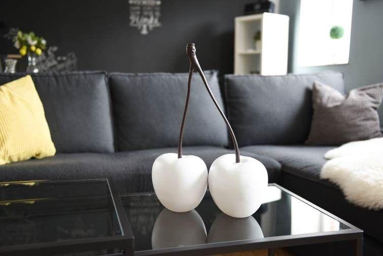 Wohnzimmer Dekoration mit schönen Deko Früchten In diesem Fall
