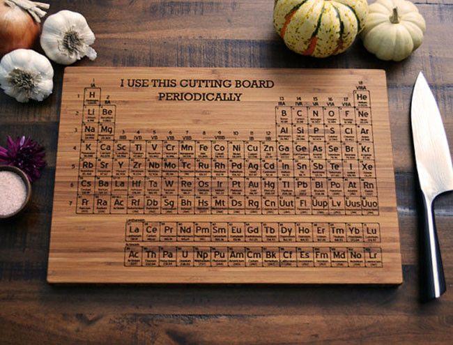 Unas tablas para cortar muy cientficas tabla qumica y ciencia tabla periodica urtaz Gallery