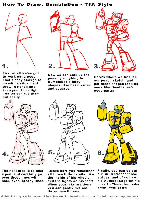 How To Draw Bumble Bee Drawings With Images Transformers