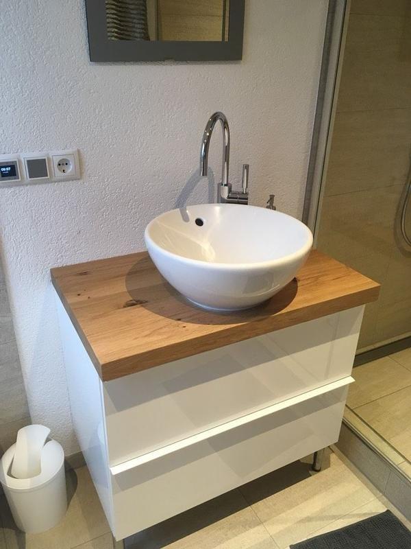 Asteiche 810x500x50 Mm Preis 220 00 Ohne Unterschrank Weiss Badezimmer Unterschrank Badezimmer Unterschrank Holz Unterschrank