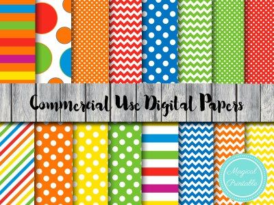 Rainbow Digital Papers Sesame Street Paper Background Dp139