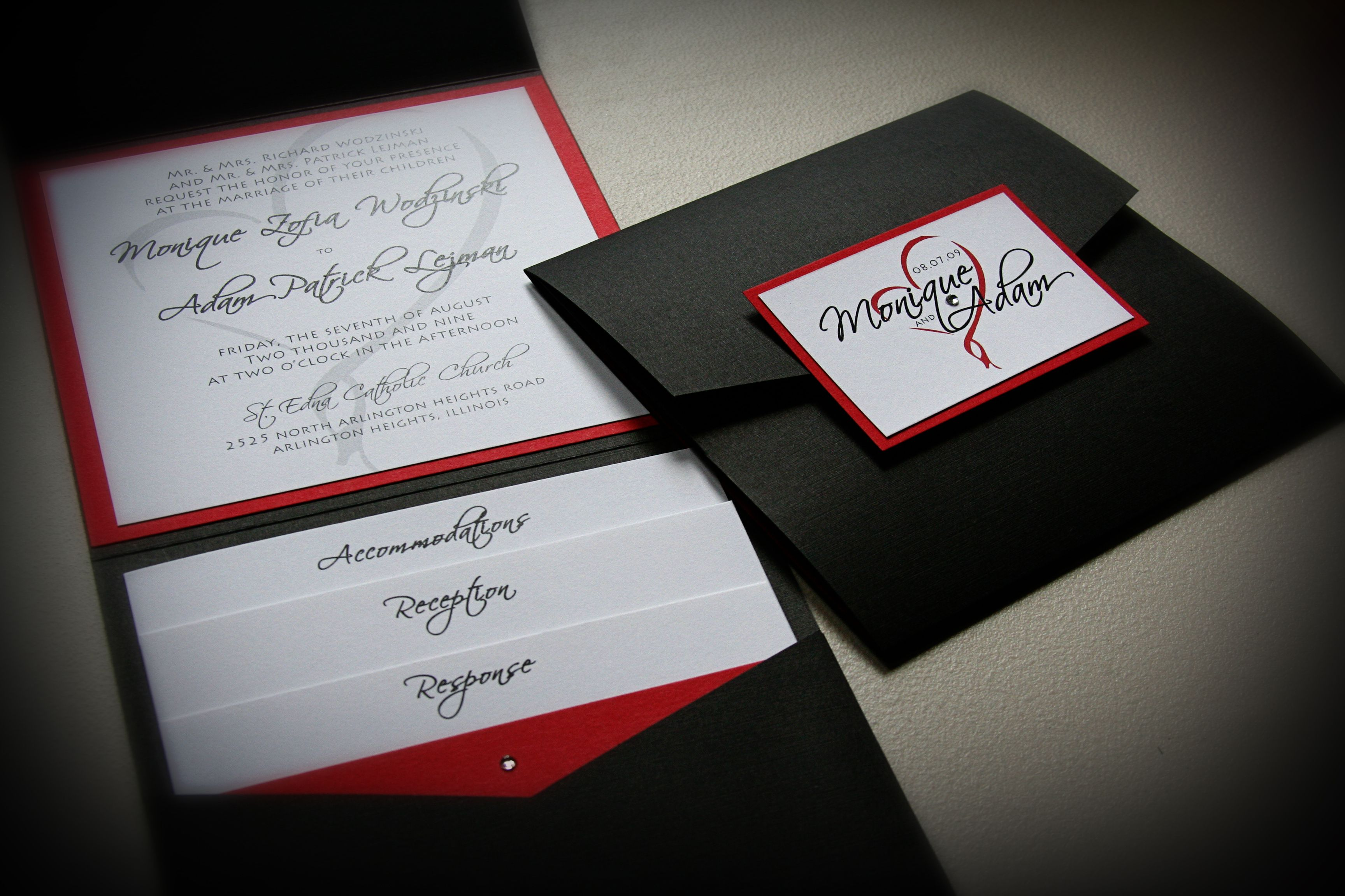 17 Best images about Wedding Invites – Black Red and White Wedding Invitations