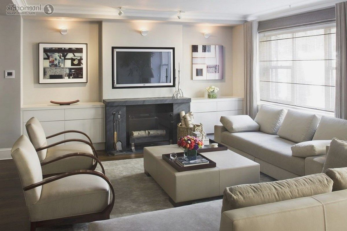20 Living Room With Fireplace That Will Warm You All Winter Rectangular Living Rooms Small Living Room Layout Living Room Arrangements