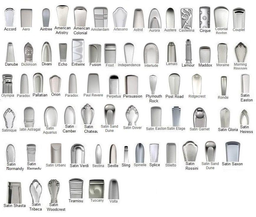 Oneida Discontinued Stainless Flatware Patterns Oneida