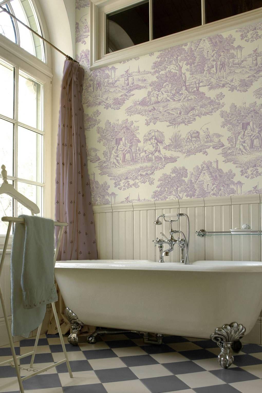 Bathroom Ideas Home Beautiful Bathrooms Toile Wallpaper