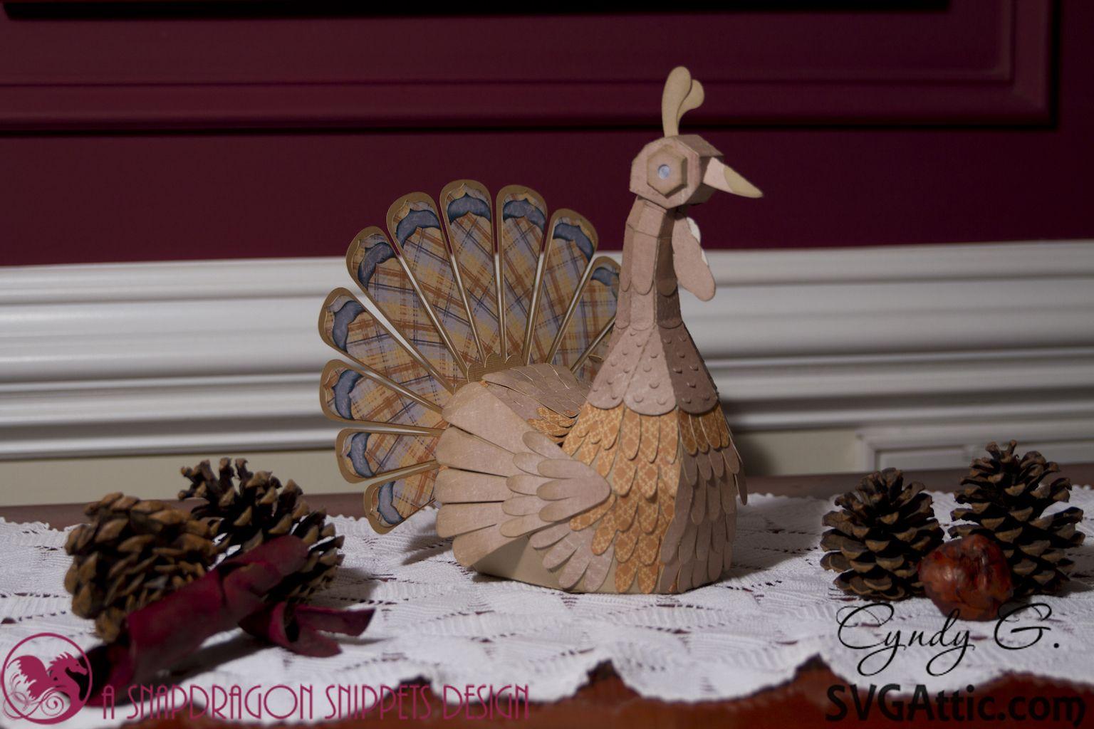 Jgw Turkey Trot Svg Attic 3d Paper Turkey Svgattic Svg
